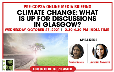 PRE-COP26 ONLINE MEDIA BRIEFING CLIMATE CHANGE